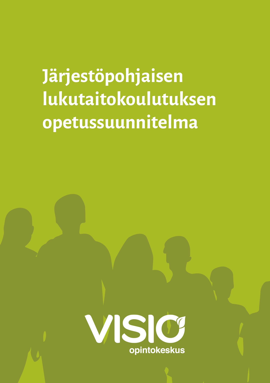 Järjestöpohjiasen lukutaitokoulutuksen opetussuunnitelma -julkaisun kansikuva.