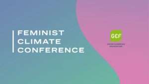 feminist climate conference -tapahtuman banneri