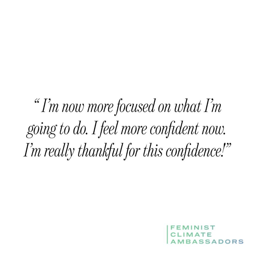 """Quote: I'm now more focused on what I'm doing. I feel more confident. I am really grateful for this confidence!"""""""